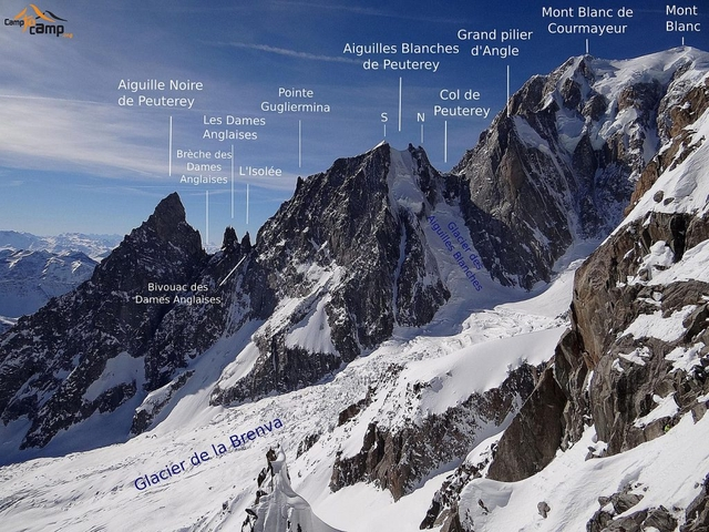 1440px Peuterey ridge with labels 1024x768